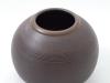 laurence girard ceramiste_lyon_vase brun manganese 003