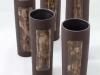 laurence girard_ceramiste_lyon_vase tube brun_manganese ecriture001pg