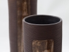 laurence girard_ceramiste_lyon_vase tube brun manganese ecriture 003.jpg