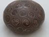 laurence girard ceramique_grosse boule pastilles sepia 02  JPG